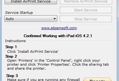 [가이드] iOS 4.2 에서 프린터 기종에 상관없이 AirPrint 로 출력하기, 윈도 사용자용