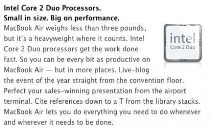 [루머노트] 인텔, ARM 기반 MacBook Air 루머 일축