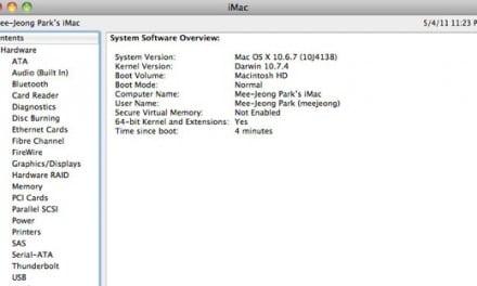 [구입후기] 2011년 iMac 에 설치된 Mac OS X 버전