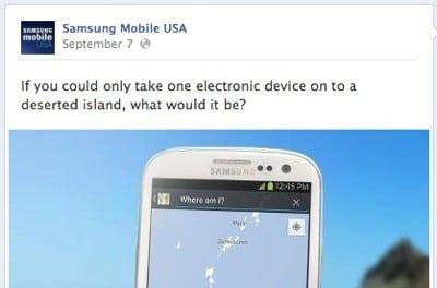 삼성의 굴욕, 페북에서 망신당한 갤럭시S3