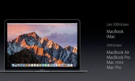 iOS 10, macOS 시에라(OS X 10.12) 호환 모델